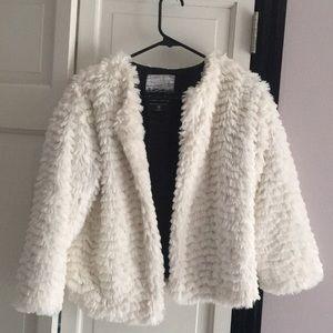 Kensie faux fur white shrug jacket.